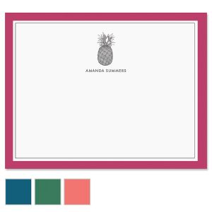 Pineapple Border Folded Note Cards