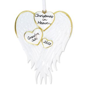 Christmas in Heaven Personalized Ornament