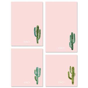 Watercolor Cactus Initial Notepads