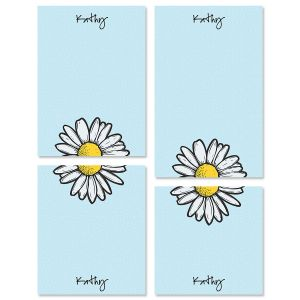 Textile Daisy Notepads