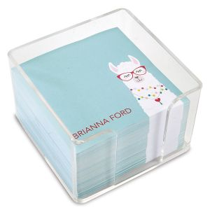 Personalized Simple Llama Note Sheets in a Cube