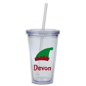 Elf Acrylic Personalized Beverage Cup