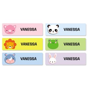 Wild Animal Name Stickers