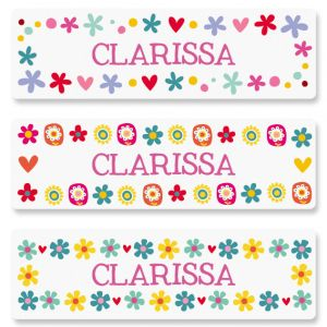 Personalized Mini Flowers Name Stickers