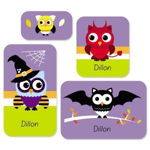 Halloween Owls Stickers