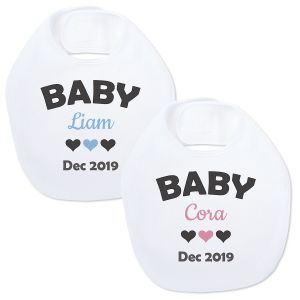Announcement Baby Bib