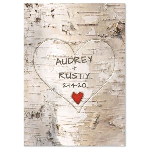 Personalized Tree Carving Valentine Card