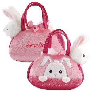 Personalized Peek-a-Boo  Bunny Purse