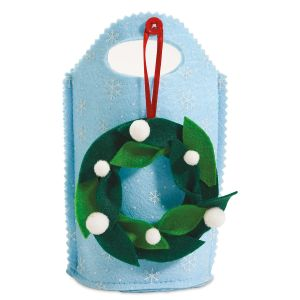 Felt Treat Bag with Removable Wreath Ornament