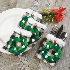 Wreath Flatware Holders