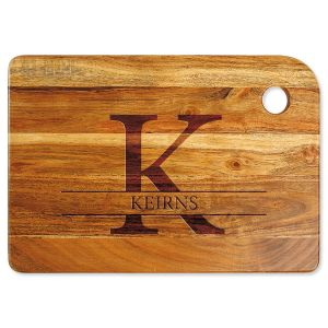 Initial Name Engraved Wood Cutting Board