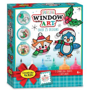 Holiday Sparkling DIY Window Art