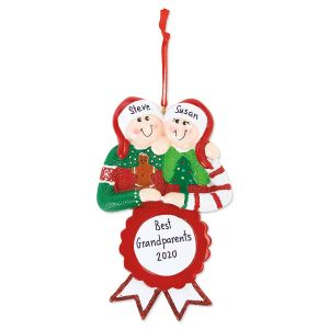 Personalized Ugly Sweater Couple Ornament
