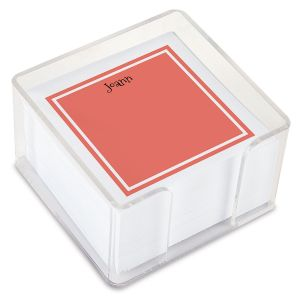 Personalized Color Trend Note Sheets in a Cube (4 rotating colors)