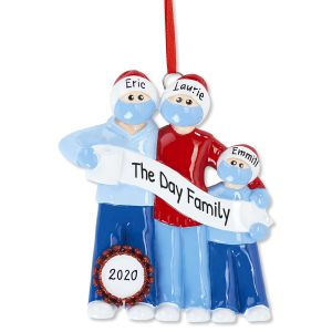 Quarantine Family Personalized Christmas Ornament