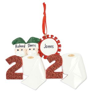 Personalized Quarantine Couple Ornament