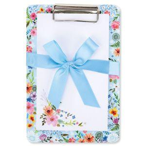 Notepad & Clipboard Floral/Blue Gift Set - BOGO