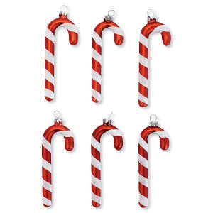 Candy Cane Glass Ornaments