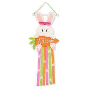 Fabric Bunny Welcome Door Hanger