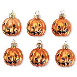 Jack-o'-Lantern Glass Ornaments