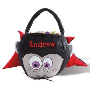 Personalized Halloween Vampire Treat Basket