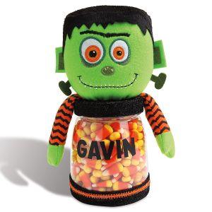 Personalized Halloween Frankenstein Treat Jar