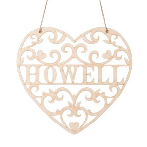 Personalized Loving Heart Wooden Plaque