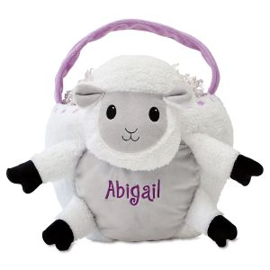 Personalized Lamb Easter Basket