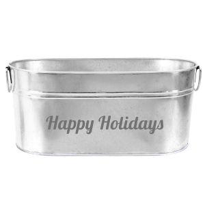 Happy Holiday Beverage Tub