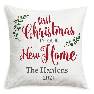 Personalized Our New Home Christmas Pillow