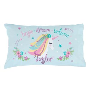 Personalized Unicorn Pillow Case