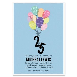 25 in Flight Milestone Personalized Invitations