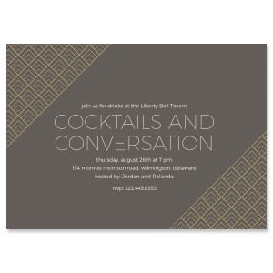 Brilliant Triangle Personalized Scallop Invitations