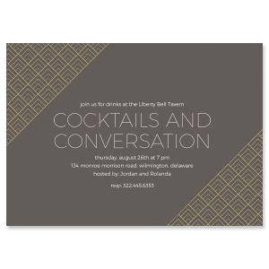Brilliant Triangle Personalized Scallop Invitations