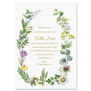 Laurel Botanical Personalized Invitations