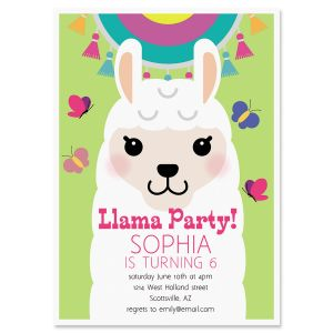 Llama Festival Birthday Personalized Invitation