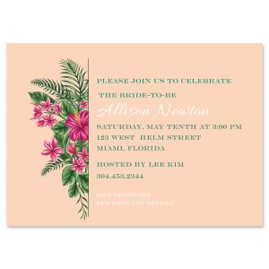 Lavish Tropical Personalized Invitations