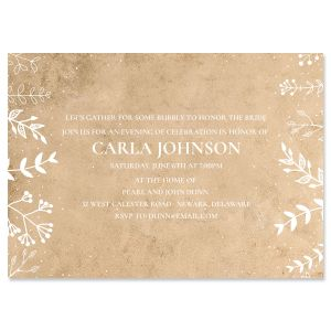 Natural Joy Personalized Invitations
