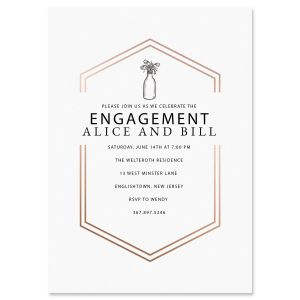 Bliss Engagement Personalized Invitations