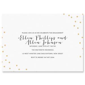 Glitter Confetti Personalized Invitations