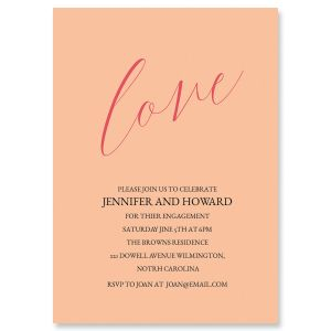 Love Engagement Personalized Invitations