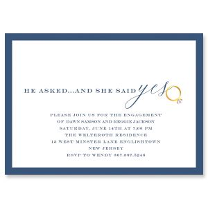 She said yes Personalized Invitations