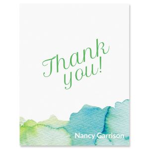 Watercolor Personalized Thank You Cards