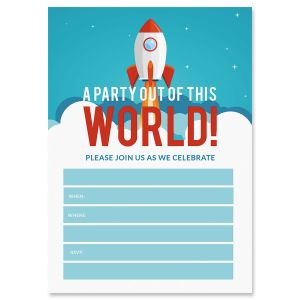 Out of This World Birthday Fill In The Blank Invitations