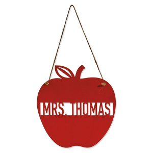 Personalized Red Apple Plaque