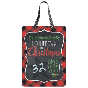 Personalized Christmas Chalkboard Countdown