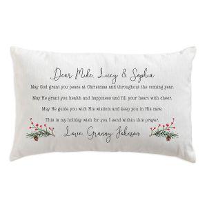 Personalized Christmas Prayer Pillow