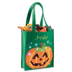 Halloween Light-up Pumpkin Tote Bag
