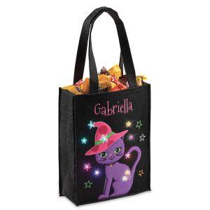 Halloween Light-up Cat Tote Bag