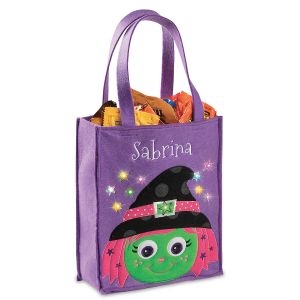 Halloween Light-up Witch Tote Bag